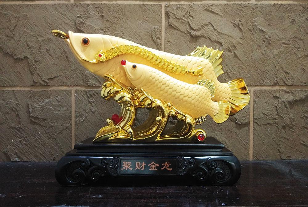 ปลามังกรคู่มงคล